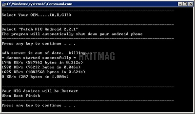 Android 2.2.1 Root 機教教學 HTC Desire Z/HD 適用