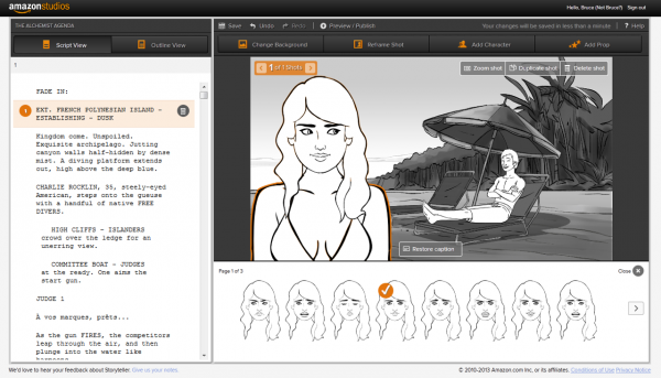 Amazon Studios launches Storyteller tool to automatically create storyboards from scripts